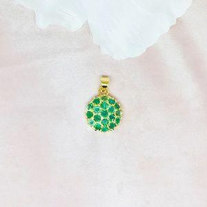 Emerald Vermeil 14K Gold Over Sterling Silver Pend